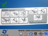 Transparent PVC Glossy Self Adhesive Scratch Resistant Security Instructions Stickers