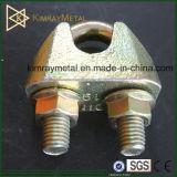 Yellow Zinc Plated Wire Rope Grip DIN1142
