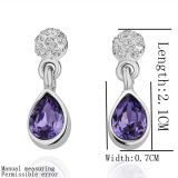 18k Platinum Plated Fashion Women Earrings Jewelry
