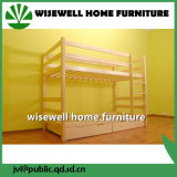 Solid Pine Wood Dormitory Single Bunk Bed (W-B-0050)
