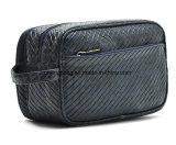Synthetic Leather PU Fake Woven Men′s Multifunction Travel Toiletry Bags