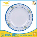 Cheap Melamine Round Casual Dish Dinner Plate Tableware Cutlery Dinnerware