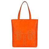 Orange Stud Metallic Pieces Quality Woman Handbags (MBLX031061)