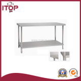 Stainless Steel Double Layers Worktable (WT-W03)