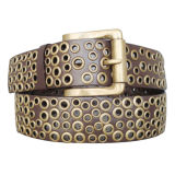 Eyelets Style Lady′s Fashion PU Belt (KY1575)