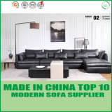 L Shape Leather Sofa in Feather