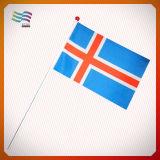 Custom Printed Polyester Paper Plastic Hand Flag Waving (HYHF-AF063)