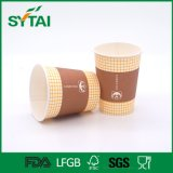 Disposable Hot with Lid Customized Single Wall Printed Paper Cups