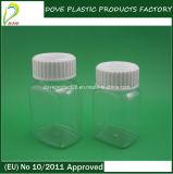 Pet Clear Rectangular Shape Medicine Bottle