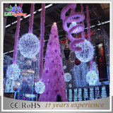 Commercial Christmas LED Decoration 3D Motif Red Ball Lights