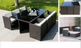PE Rattan Square Table and Chair Bar Furniture