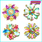 Fashion Enamel Flower Shape Gold China Wholesale Brooch