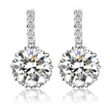 Hot Jewelry Copper White Gold Plated Stud Earrings with CZ