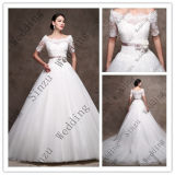 off Shoulder Sash Lace Ballgown Bridal Dress Wedding Gown C2005