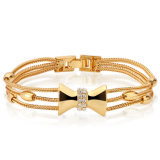 Western Style Hot Sale Yellow Gold Color Bracelet for Girls