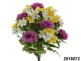 Artificial/Plastic/Silk Flower Rose/Daisy Mixed Bush (2918072)