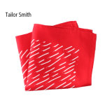 Fashionable Red Silk Printed Handkerchief Pocket Square Hanky