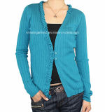 Women Knitted V Neck Long Sleeve Fashion Clothes (12AW-082)