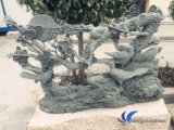 Chinese Grey Granite Carving for Decoration