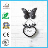 Metal Garden Hanging Iron Butterfly Clock