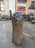 Rose Carving Black Basalt Statue, Garden Decoration