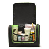 Fashion Black Nylon Clutch Promotional Cosmetic Beauty Toiletry Bag (YKY7526)