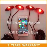 RGB LED Rock Light Controlled by Bluetooth for Jeep IP68 12V Changing Color 9W 6000k