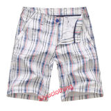 Men 2015 Casual Strip Checkcolorful Leisure Shorts (S-1509)