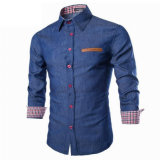Wholesale Luxury Casual Jeans Slim Fit Denim Shirt