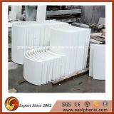 Polished White Artificial Crystallized Glass Interior Wall Stone Decoration