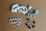Plastic Square Flat Cable Clip Wall Circle Cable Clamp