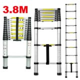 3.8m Telescopic Scalable Ladder Aluminium Foldable Extendable Extension Steps