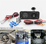 12V-24V Car Power Socket Adapter Dual USB Charger Scoket Waterproof