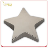 Custom Nickle Plated Engraving Metal Star Shape Paper Weight