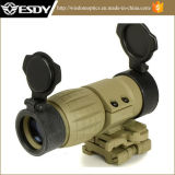 Tan Color Tactical 3x Magnifier Scope Sight with Flip Mount