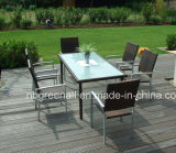 Patio Garden Aluminum PE Outdoor Rattan Dining Chair Set