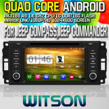 Witson S160 Car DVD GPS Player for Jeep Compass,Jeep Commander with Rk3188 Quad Core HD 1024X600 Screen 16GB Flash 1080P WiFi 3G Front DVR DVB-T Mirror(W2-M202)