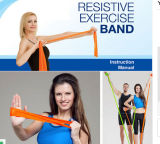 Rubber Exercise Fitness Resistance Loops Stretch Band with Logo