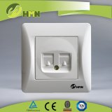 Hermano High Quality Switch Socket Supplier Double Tel Socket Data