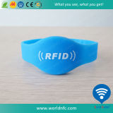 Logo Printing Classic S50 RFID Silicone Wristband for Event Management