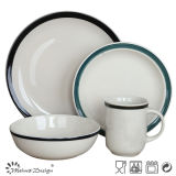 16PCS White with Hand Painting Cheap Price Dinner Set