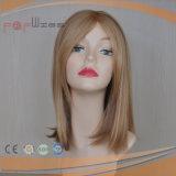 Best Populor Brown Blend Blond Bob Machine Made Lace Wig
