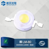 High Output Light Efficacy 50000 Hours Lifespan White 1W Power LED Chip