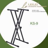 Heavy-Duty Double X Keyboard Stand Ks-9