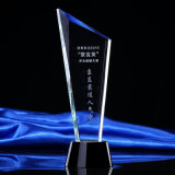 Crystal Trophy, Crystal Award with Black Round Stand Base
