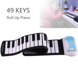 49 Keys Flexible Silicon Roll up Piano Electronic Organ Keyboard Instrument for Children