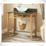 Natual Bamboo Bathroom Floor Storage Cabinets
