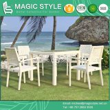 Rattan Dining Set Flower Weaving Chair Dining Table Stackable Chair (Magic Style)