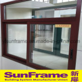 Aluminium Sliding Window with Wood Texture