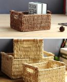 (BC-CB1001) Pure Manual Natural Cornhusk Basket